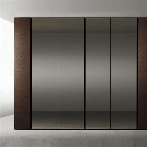 smoke glass hinged door wardrobe logo