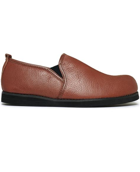 leather slippers for lyst l b admiral leather slippers in brown for
