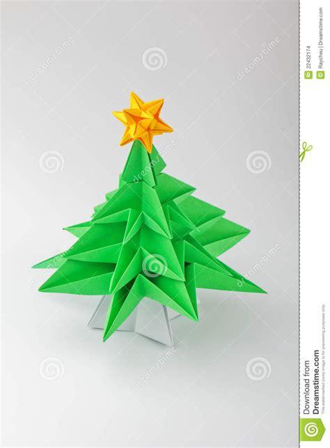 Origami Natal - origami uma 225 rvore de natal foto de stock imagem 22432174