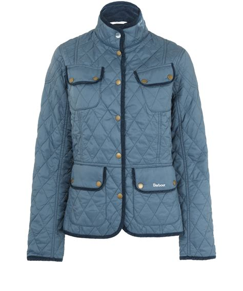 Light Quilted Jacket by Barbour Light Blue Spectrum Pantone Quilted Jacket In Blue