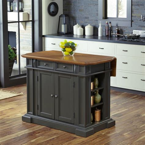 gray kitchen island home styles americana grey kitchen island with drop leaf 5013 94 the home depot