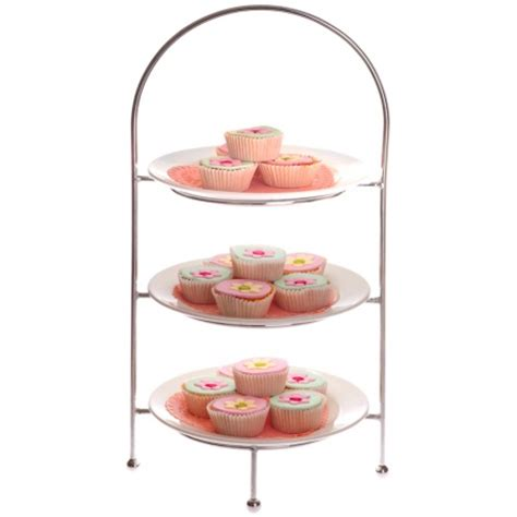 Etagere Landhaus by Cake Stand Chrome 3 Tier Hire Society