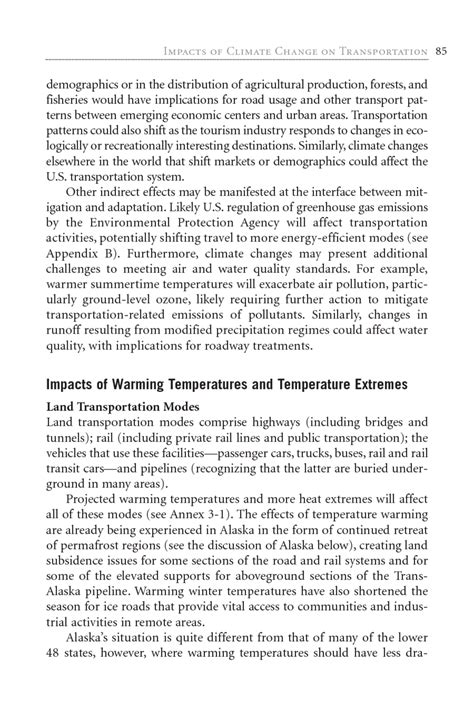Essay For Transportation by 3 Impacts Of Climate Change On Transportation Potential Impacts Of Climate Change On U S
