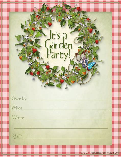 garden invitation template planning center free printable summer garden