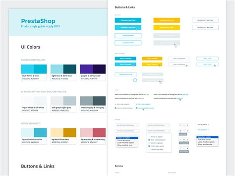 html design guide style guide product guidelines by julie delanoy dribbble