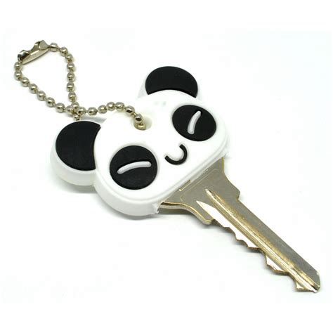 creative panda key chain holder gantungan kunci white jakartanotebook