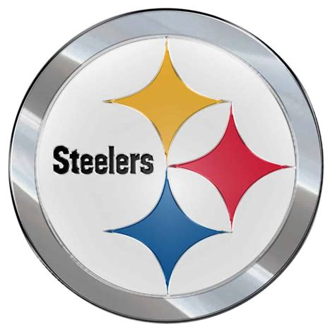 what are the steelers colors pittsburgh steelers color auto emblem die cut detroit