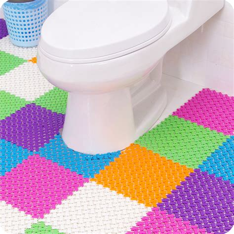 Multi Colored Bath Mats by Multi Colored Big Water Resisting Mats Patchwork Bath