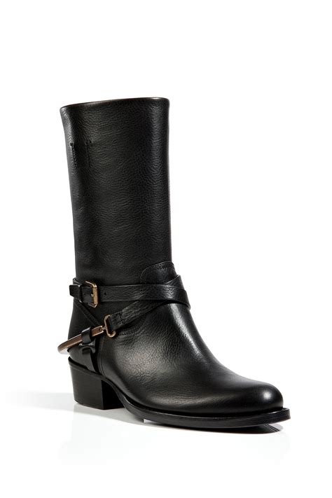 ralph leather boots ralph collection leather half boots in black in