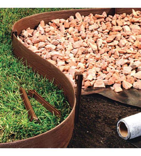 bordi giardino bordura da 3 metri in plastica marrone per aiuole e