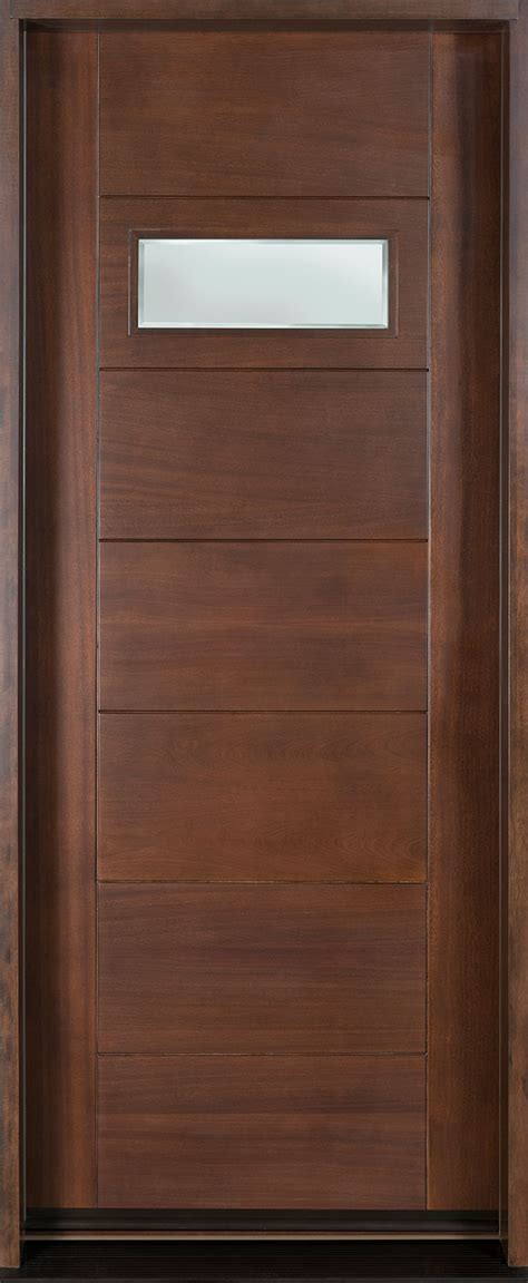 Modern Wooden Front Door Modern Front Door Custom Single Solid Wood With Walnut Finish Modern Model Db 711g Cst Modern