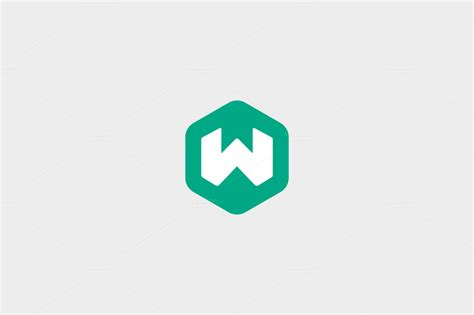 abstract letter w hexagon logo logo templates on