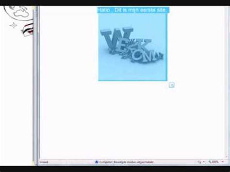 tutorial website maken html website maken in kladblok tutorial 3 plaatjes