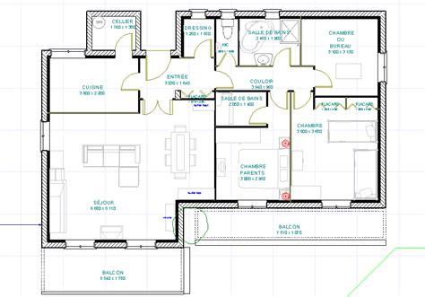 plans cuisine ouverte plan maison cuisine ouverte