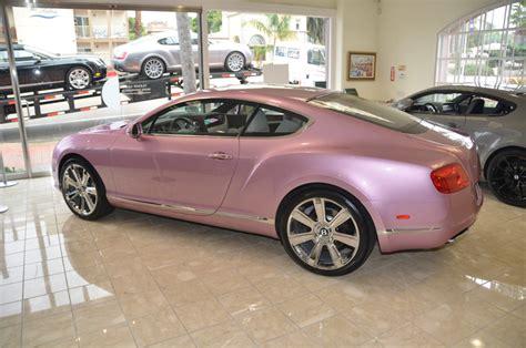 bentley car pink passion pink bentley gt on sale for susan g komen benefit