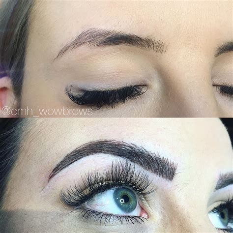 feather touch eyebrow tattoo hair stroke feather touch tattooed cmh tayla made
