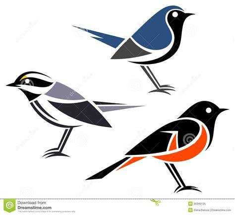 stylized birds royalty free stock photo image 30346135