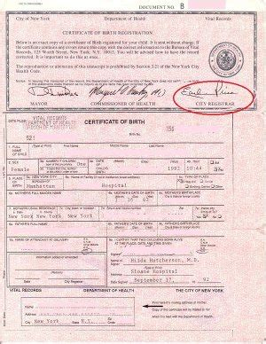 Birth Records Nyc Nyc Birth Certificates For Foreign Use