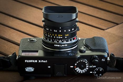 Optic Pro Ring 52mm For Canon 1 using leica m lenses on the fuji x pro1