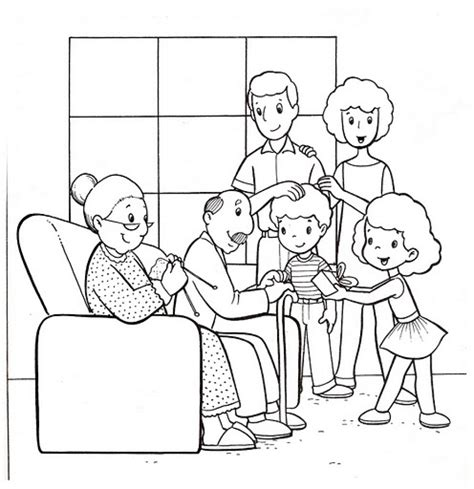 coloring page of family get this easy family coloring pages for preschoolers 9iz28