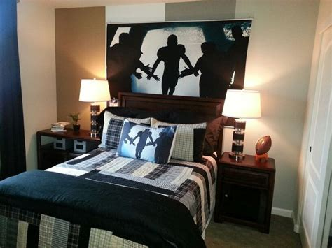 football bedrooms football mural from pottery barn teen boys room pinterest