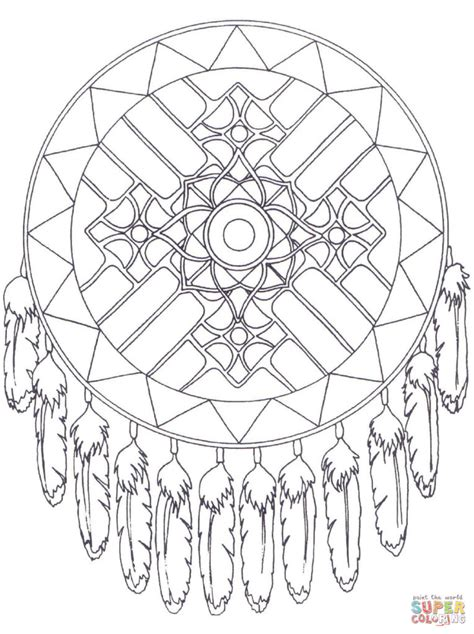 free coloring pages of dreamcatcher