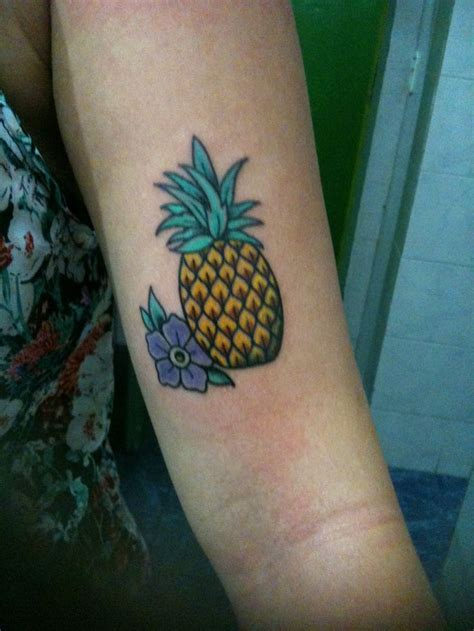 pineapple tattoo pineapple ink pineapple tattoos purple