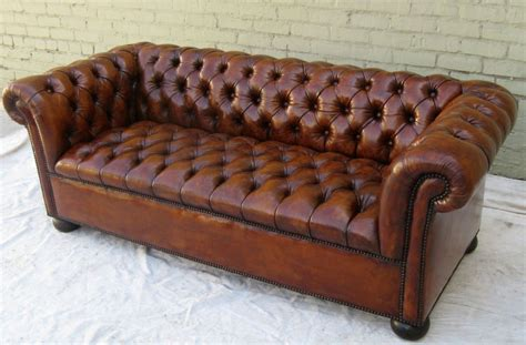 Tufted Leather Chesterfield Sofa Chesterfield Leather Tufted Sofa Circa 1930 At 1stdibs