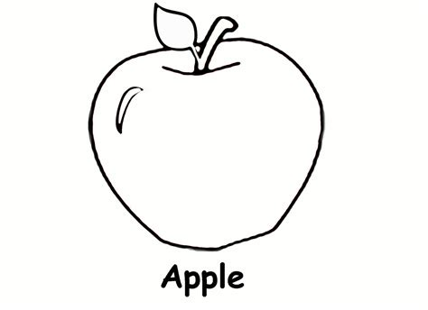 Free Printable Coloring Page Of An Apple | free printable apple coloring pages for kids
