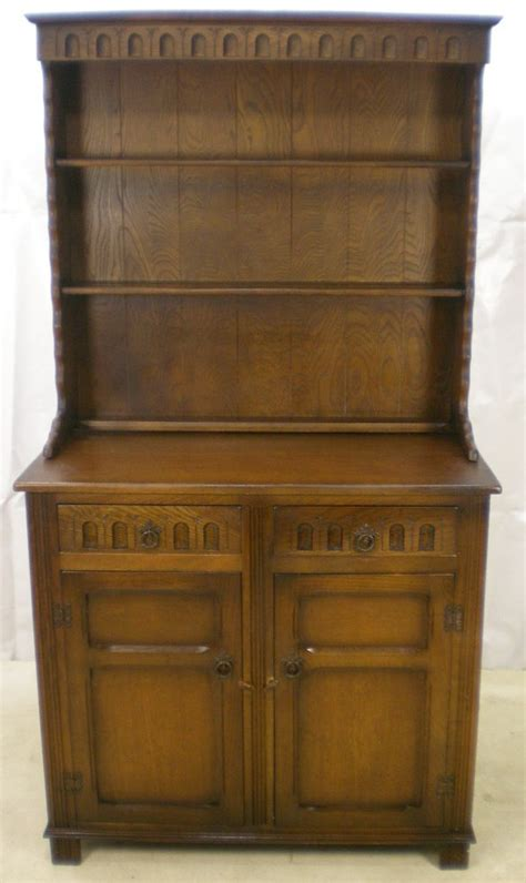 Antique Style Dresser by Antique Style Oak Dresser With Plate Rack