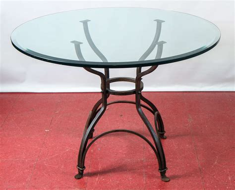 Garden Metal Base Glass Top Dining Table For Sale At 1stdibs Garden Metal Base Dining Table At 1stdibs