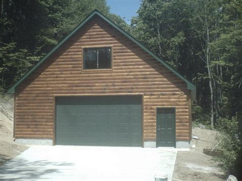 Garage And Loft Plans by Garage With Loft And 1 4 Log Siding From Ac Construction