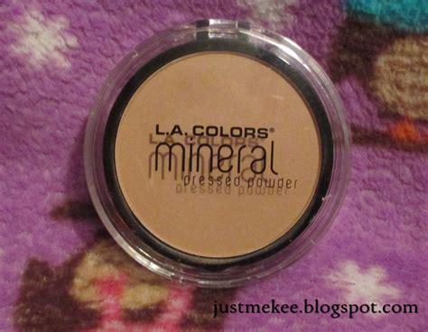 la colors powder just me kee l a colors mineral pressed powder review