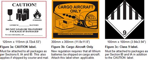 Bu 704a Shipping Lithium Based Batteries By Air Battery University Lithium Ion Battery Label Template