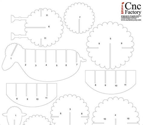 cardboard sheep template cutting files cuttings and sheep on