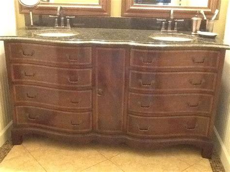 convert dresser into vanity converting dresser to bathroom vanity aardvark antiques