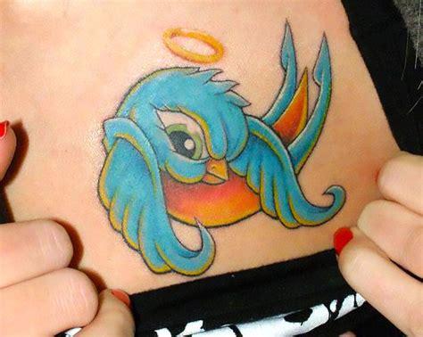 new school angel tattoo new school bluebird angel tattoo idea