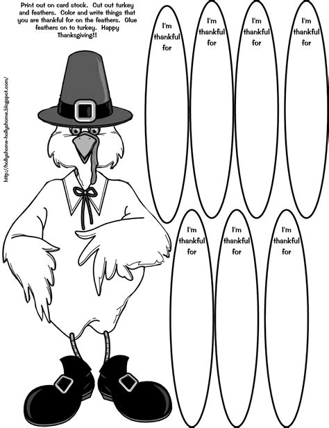 thankful turkey craft template hollyshome family thankful turkey coloring craft