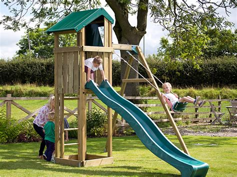 slide and swing set uk the hilltop climbing frame has a single swing slide