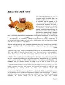 Food Essay quot junk food argumentative essay quot anti essays 5 mar 2016