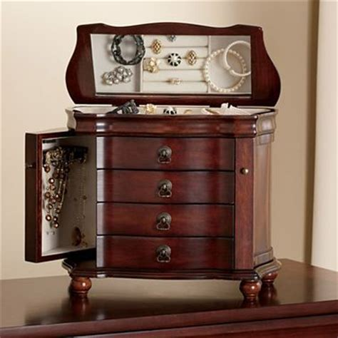 jcpenney jewelry box armoire jewelry box antique walnut jcpenney my future home pinterest