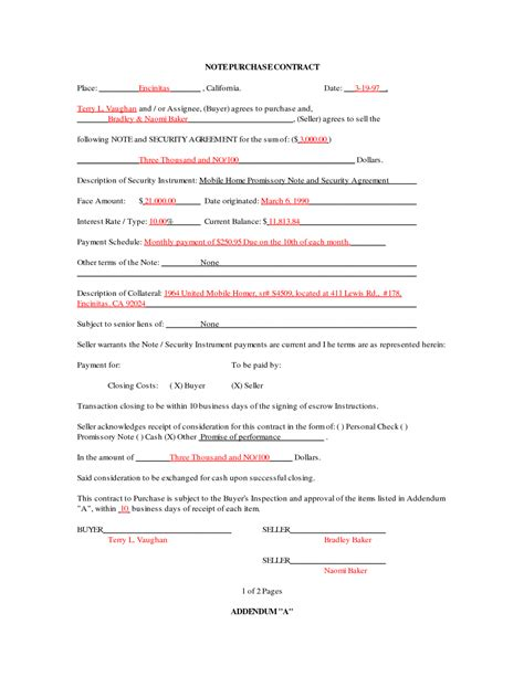 Mobile Home Purchase Agreement Gtld World Congress Point Of Sale Contract Template