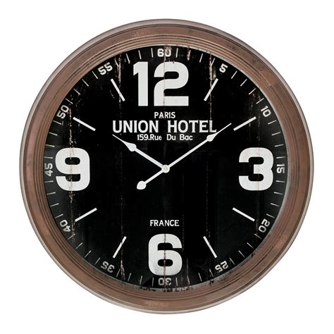 large wall clocks buy union hotel rustic large wall clock online purely