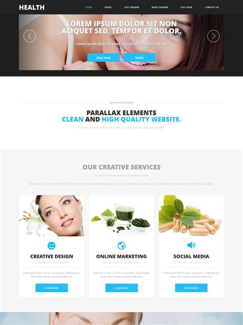 Skin Cosmetic Website Template Health Website Templates Dreamtemplate Website Skin Template