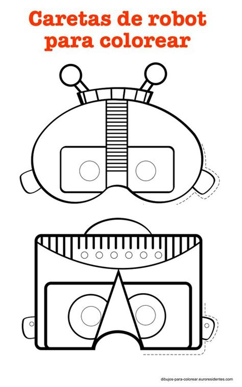 printable robot mask robot masks printables pinterest