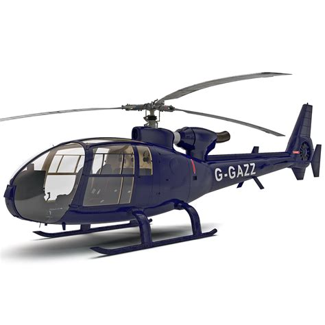 Kaos 4d Versi 6 Helicopter 4d gazelle helicopter 3d model