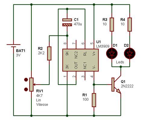 electronique realisations stroboscope  leds