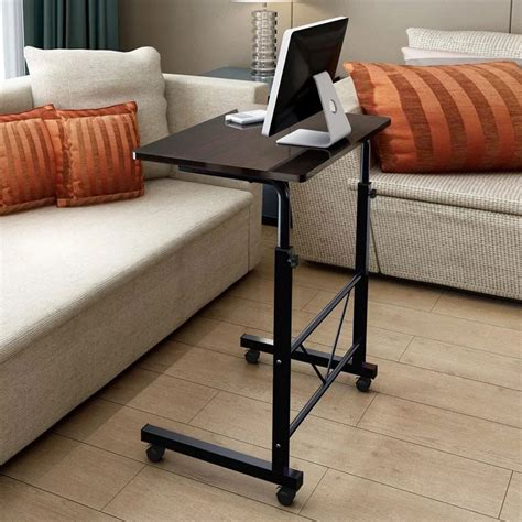 Sofa Laptop Desk Removable Laptop Table Height Adjustable Computer Desk W Wheel Sofa Bed Tray Ebay