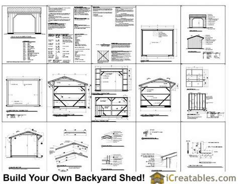 Free Run In Shed Plans 10x14 run in shed plans barn run in shed plans