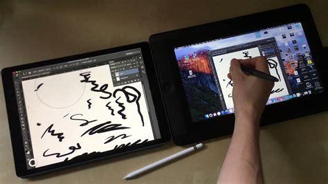 Size 2 7 Yo pro apple pencil astropad vs cintiq 13hd comparison